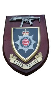 Essex Police Service with Pewter MP5 Wall Plaque